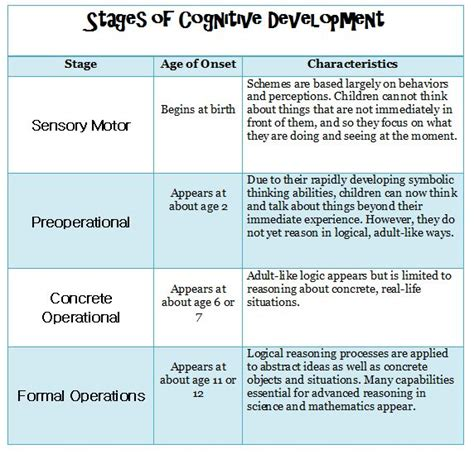 sle study report child development piaget s stages of cognitive development child