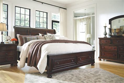 porter king bedroom set porter queen sleigh bed ashley furniture homestore
