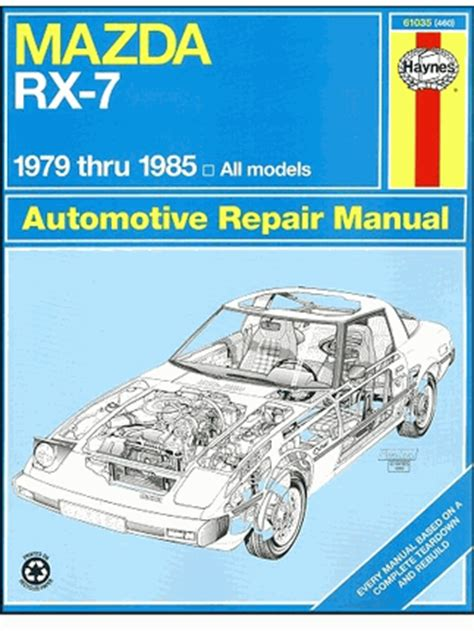 mazda rx 7 repair workshop manual 1979 1985 haynes 61035