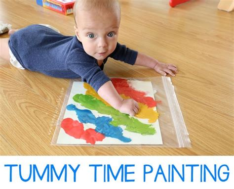 infant gross motor activities 25 best baby painting ideas on baby