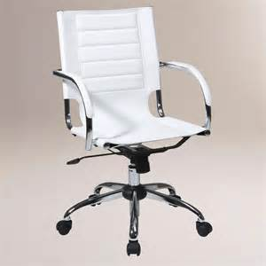 White Desk Chair White Grant Office Chair World Market