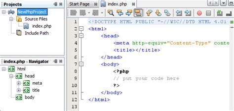 tutorial html y php netbeans ide php quick start tutorial