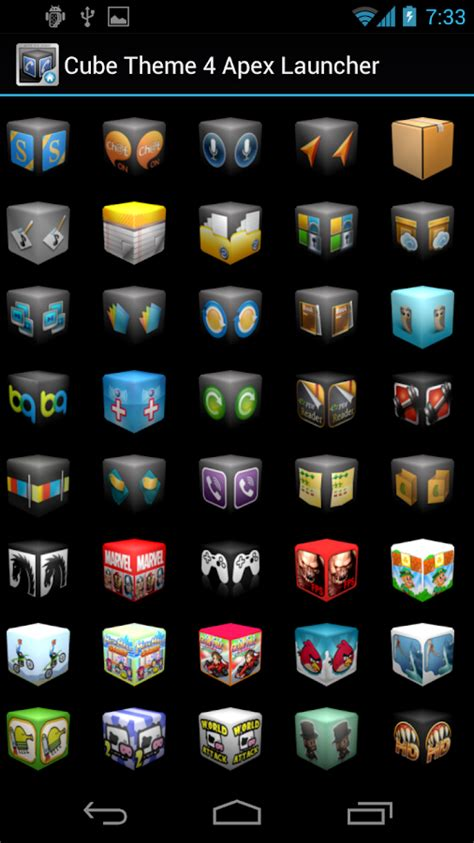 themes for android apex launcher cube theme 4 apex launcher android apps on google play
