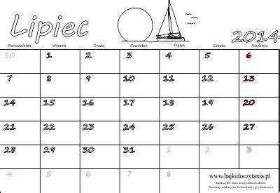 kalendarz 2016 do wydruku kalendarz do druku na lipiec 2014