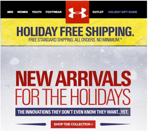 email format under armour 2012 is the year promotions became permanent in email