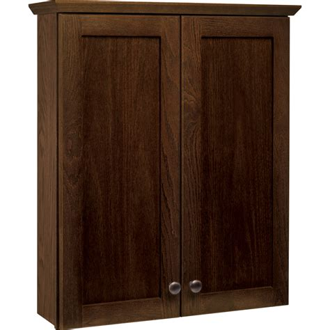 shop style selections liberton cocoa wall cabinet common