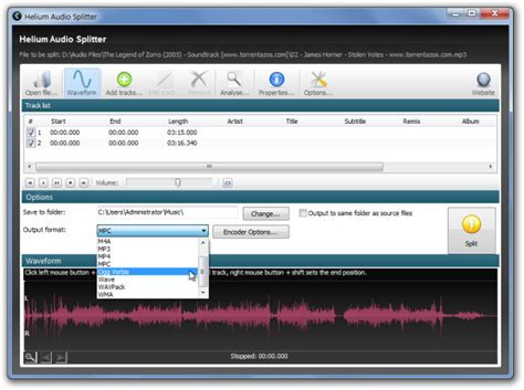 all format audio joiner split join music files with different output format