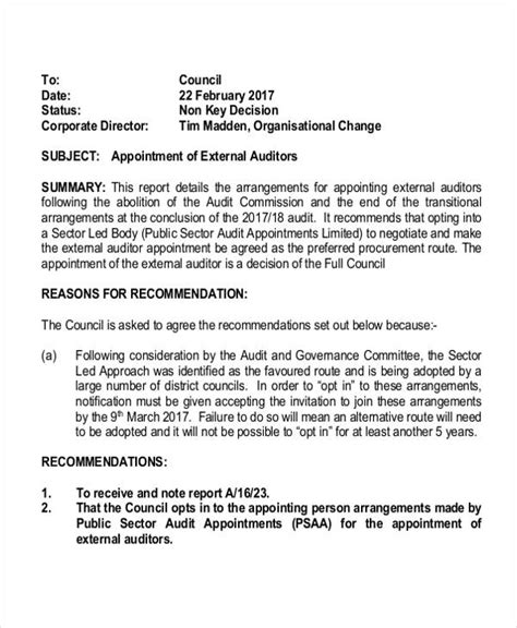 appointment letter of statutory auditor appointment letter format of auditor 28 images 28