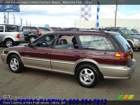 1999 subaru legacy wagon winestone pearl 1999 subaru legacy limited outback wagon