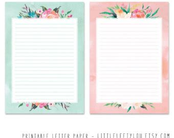 printable a5 writing paper printable letter paper floral 2 stationery writing letter
