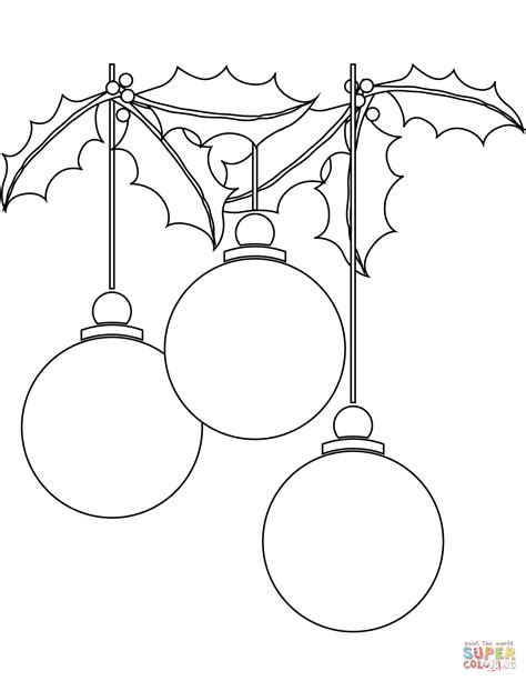 how to draw christmas balls ornaments coloring page free printable coloring pages