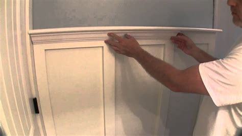 Bathroom Paint Ideas For Small Bathrooms by Build Simple Bathroom Wainscot Pt 2 Youtube