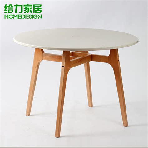 roundtable wood dining table negotiating table minimalist