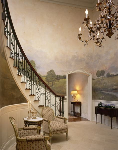 grand westchester county estate traditional entry