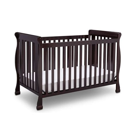 Delta Children Riverside 4 In 1 Convertible Crib Dark Baby Crib