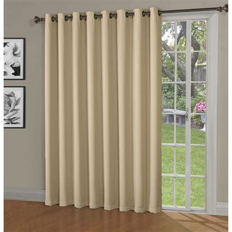 single panel curtain for sliding glass door bella luna blackout maya woven blackout 108 in w x 84 in