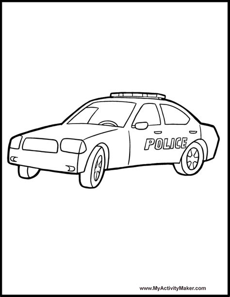 coloring pages of small cars small police cars printable coloring pages color