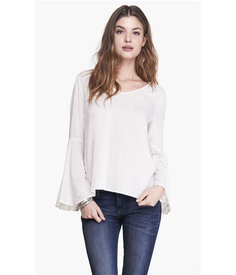 Blouse Cookies Bell express bell sleeve blouse in lyst