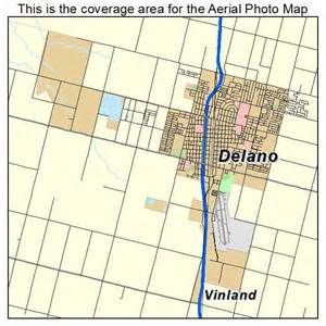 aerial photography map of delano ca california