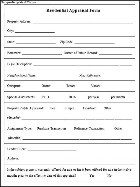 jewelry appraisal form template related keywords suggestions for landscaping appraisal