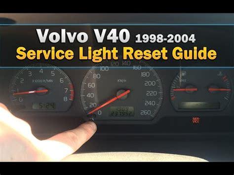 reset l200 service light volvo v40 service light reset 1998 youtube