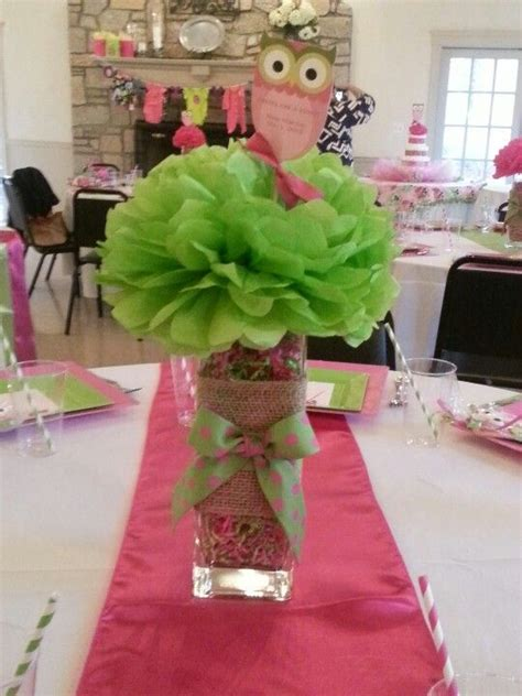 Owl Themed Baby Shower Centerpiece Cc Events Llc Owl Themed Centerpieces