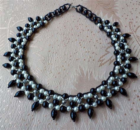 free beaded jewelry patterns free pattern for beautiful beaded necklace black goddess