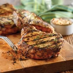 grilled pork chops with basil garlic rub pork recipes