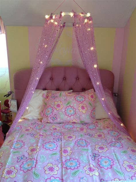 little girl canopy bed little girl s bed diy canopy for the home pinterest