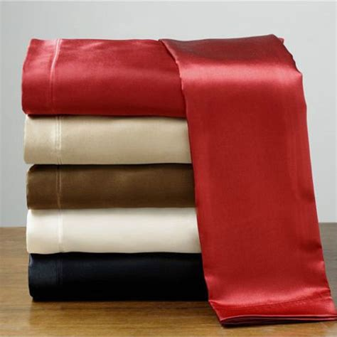 satin bed sheets wholesase 100 soft skin satin silk bed sheet pillowcases