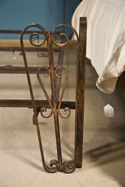 antique rod iron beds antique wrought iron palladium king size bed at 1stdibs