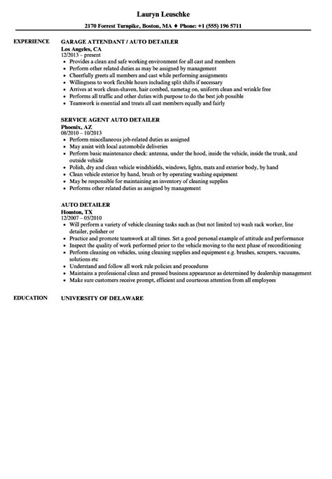 awesome car detailer resume description composition