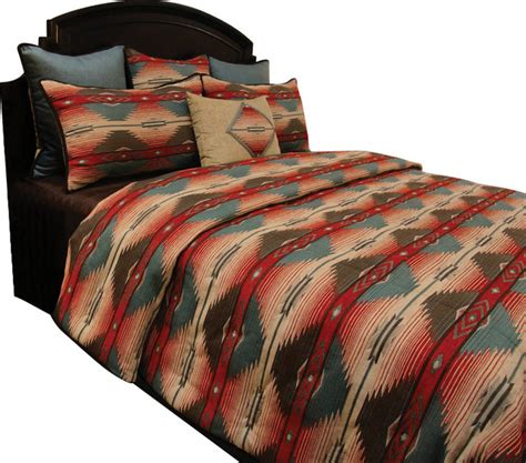 santa clara coverlet set king southwestern comforters and
