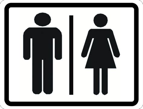 men and women bathroom sign man and woman symbol restroom sign signs by salagraphics
