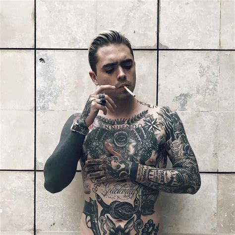 guy with tattoos tattooed model jose prager