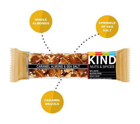 is caramel color gluten free caramel almond and sea salt snackbar in 40g from