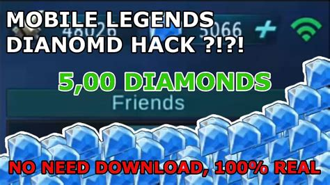 how to hack mobile legends with gameguardian 100 diamonds hack no need to download mobile legends 100