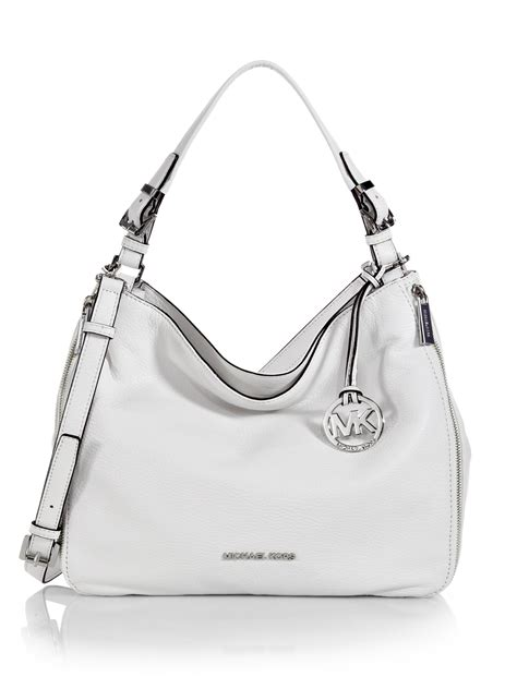 Michael Kors Mesh Hobo Purse by Lyst Michael Michael Kors Essex Hobo Bag In White