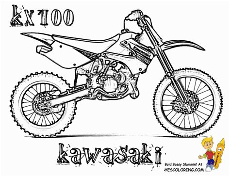 Get This Free Dirt Bike Coloring Pages For Kids Yy6l0 Dirt Bike Pictures To Color