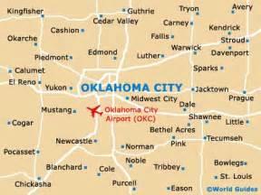 oklahoma map showing cities oklahoma city maps and orientation oklahoma city usa