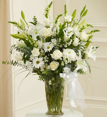 White Flower Arrangements In Vases by Beautiful Blessings White Vase Arrangement From 1 800