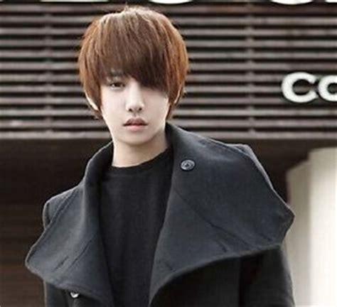 hot! boys wig new korean men's short light brown male hair