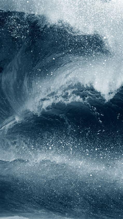wallpaper waves water ocean blue  nature