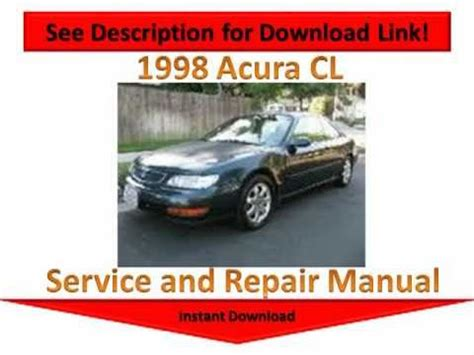 car repair manuals download 1997 acura cl user handbook 28 97 acura cl repair manual 84827 97 acura cl owners manual submited images pic2fly 1997