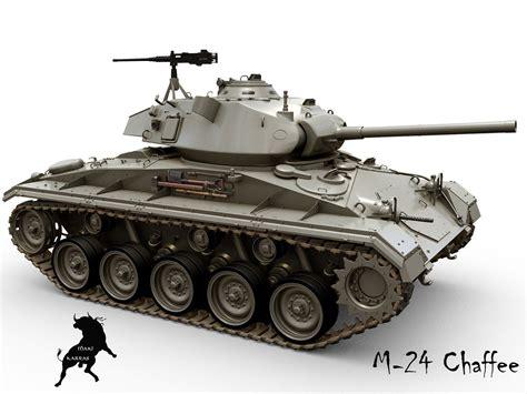 C M B 24 m24 chaffee 3d model max obj fbx cgtrader