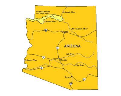 arizona us map arizona us state powerpoint map highways waterways