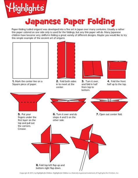 Japanese Paper Folding - how to make an origami pinwheel paper folding origami