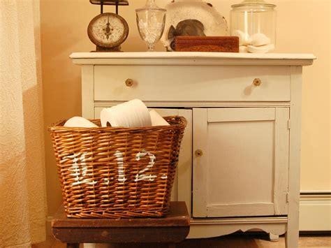 Bathroom Decorating Ideas Baskets Simple Stenciled Basket Hgtv