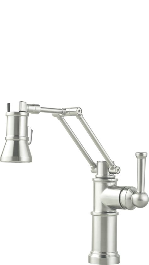 articulated kitchen faucet articulating arm kitchen faucets for residential pro
