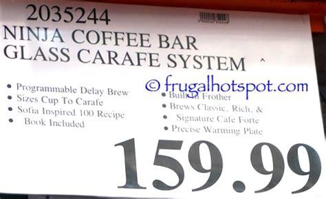 costco sale: ninja coffee bar glass carafe system $129.99
